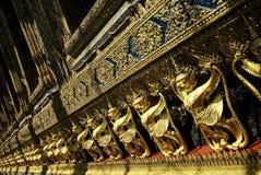 Arte budista da arquitetura de Tailândia Banguecoque do templo imagem de stock royalty free