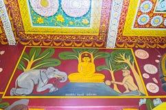 A arte budista medieval Fotos de Stock Royalty Free
