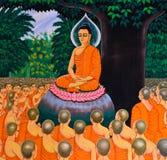 Arte budista mural tailandés imágenes de archivo libres de regalías