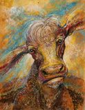 Arte cósmica da vaca ilustração royalty free