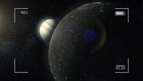 Arte cósmico, papel pintado de la ciencia ficción Belleza del espacio profundo Mil millones de galaxias en el universo Planeta de stock de ilustración