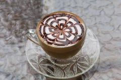 Arte/café do Latte fotografia de stock royalty free