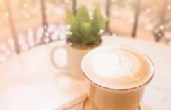 Arte caliente del café y del latte foto de archivo