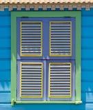 Arte caraibica dell'aletta della finestra Fotografia Stock