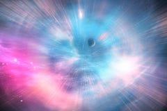 Arte celestial, estrelas e galáxias no espaço que mostra o bea Imagens de Stock