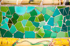 Arte cerâmica no parque Guell em Barcelona, Espanha Imagens de Stock Royalty Free