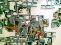 Arte ceramica moderna della parete Fotografia Stock Libera da Diritti