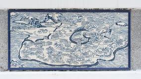 Arte che attinge parete ceramica dentro dell'ufficio civico e municipale di affari (IACM) - Senado Leal nel 1999 A d Immagine Stock Libera da Diritti