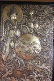 Arte chinesa da placa de cobre Imagens de Stock Royalty Free
