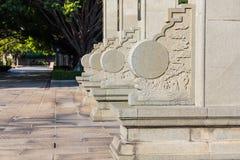 Arte chinesa que cinzela a pedra Fotografia de Stock Royalty Free