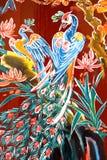 Arte chino de la pared del templo Imagenes de archivo