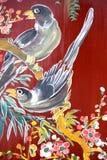 Arte chino de la pared del templo Foto de archivo libre de regalías