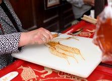 Arte chino de la pintura del azúcar Fotografía de archivo libre de regalías