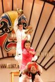Arte chino de la té-danza Imagenes de archivo