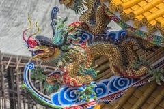 Arte chino del templo en Ang Sila, Chonburi, Tailandia también conocida como Foto de archivo libre de regalías