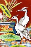 Arte cinese della parete del tempiale Immagine Stock Libera da Diritti