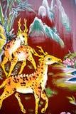 Arte cinese della parete del tempiale Immagini Stock Libere da Diritti