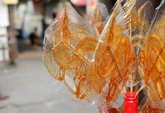 Arte cinese della pittura dello zucchero Immagini Stock Libere da Diritti
