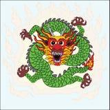 Arte cinese di tiraggio della mano del drago Fotografia Stock Libera da Diritti