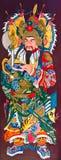 Arte cinese sul portello del tempiale Fotografia Stock