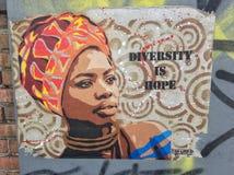 Arte colectivo Nueva York de la calle de Bushwick imagen de archivo libre de regalías