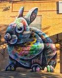 Arte colectivo Nueva York de la calle de Bushwick imágenes de archivo libres de regalías