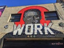 Arte colectivo Nueva York de la calle de Bushwick fotos de archivo