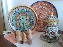 Arte coloniale di Handycraft del messicano Fotografia Stock