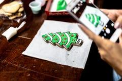Arte colorida da cookie do Natal foto de stock