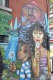 Arte colorida da rua Fotos de Stock Royalty Free