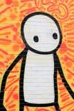 Arte colorida da rua em NYC Fotografia de Stock