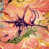 Arte colorida do ebru Fundo do papel marmoreado Foto de Stock Royalty Free