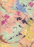 Arte colorida do ebru Fundo do papel marmoreado Fotografia de Stock Royalty Free
