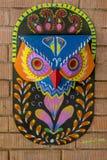 arte colorida do owl_Wall para as festividades de anos novos de Bangla máscara Imagens de Stock