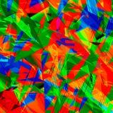 Arte colorido caótico Fotografía de archivo libre de regalías
