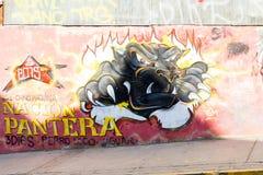 Arte colorido de la calle Fotografía de archivo libre de regalías