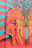 Arte colorido de la calle en NYC foto de archivo libre de regalías