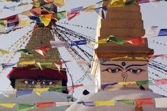 Arte colorido de la cara en edificios Imagen de archivo