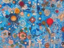 Arte Colourful dei graffiti sulla parete fotografia stock