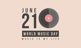 Arte común del vector del día de la música del mundo de la colección libre illustration