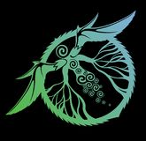 Arte com criatura místico ilustração royalty free