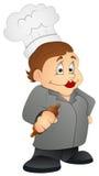 Abuelita de la cocina - personaje de dibujos animados - ejemplo del vector Imágenes de archivo libres de regalías