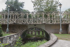 Arte concreta da ponte imagens de stock
