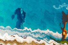 Arte contemporáneo ilustraciones modernas Fondo abstracto de la pintura Modelo dinámico brillante Textura artística multicolora ilustración del vector