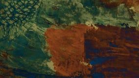 Arte contemporânea Dry ink na superfície Cursos de pintura acrílicos na lona Arte moderna Lona grossa da pintura Fragmento da art ilustração stock