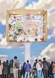 Arte contemporanea del collage di concetto della cultura di massa royalty illustrazione gratis