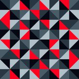 Arte contemporanea moderna di progettazione del modello di vettore dell'estratto geometrico senza cuciture del fondo con il mosai Fotografia Stock