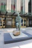 Arte contemporanea su esposizione alle sedi principali del ` s di Christie alla plaza di Rockefeller a New York Fotografie Stock