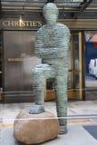 Arte contemporanea su esposizione alle sedi principali del ` s di Christie alla plaza di Rockefeller a New York Immagine Stock Libera da Diritti