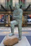 Arte contemporanea su esposizione alle sedi principali del ` s di Christie alla plaza di Rockefeller a New York Immagini Stock Libere da Diritti